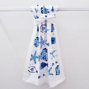 #964 ♨️4 for $20♨️FISH IN SEA hanging snap towel